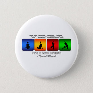 Cool Yoga It Is A Way Of Life 6 Cm Round Badge