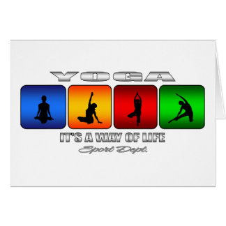 Cool Yoga It Is A Way Of Life Card