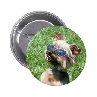 Cool Yorkshire Terrier Button