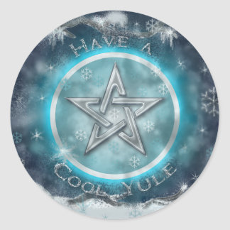 Cool Yule Classic Round Sticker