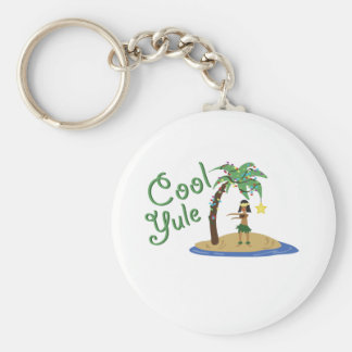 Cool Yule Basic Round Button Keychain