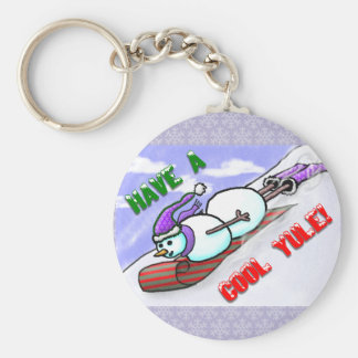 Cool Yule Snowman Keychain