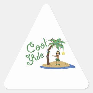 Cool Yule Triangle Sticker