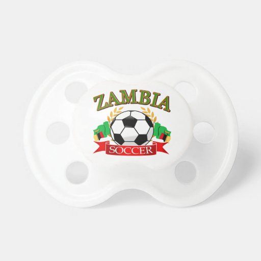 Cool Zambian soccer designs Baby Pacifier