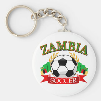 Cool Zambian soccer designs Key Chain
