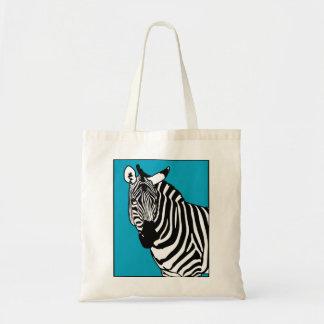 Cool Zebra Animal Tote Bag
