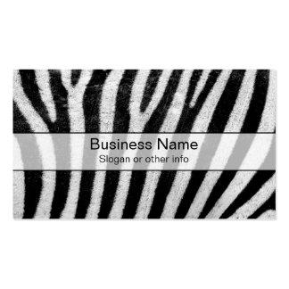 Cool Zebra Pattern Texture Business Cards