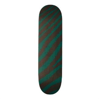Cool Zebra Print Green & Black Custom Animal Print 19.7 Cm Skateboard Deck