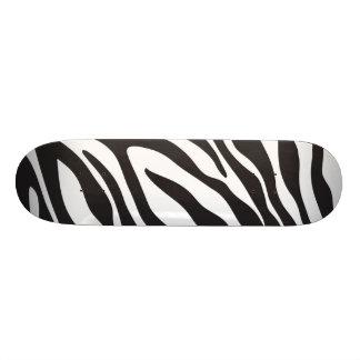 Cool Zebra Print White & Black Stripe Animal Print Skateboard Deck
