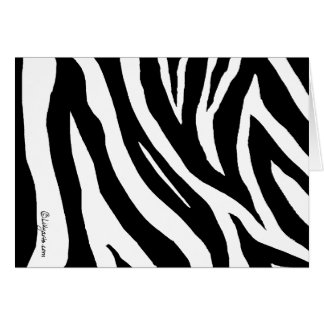 Cool Zebra Stripes Greeting Card