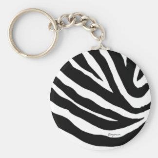 Cool Zebra Stripes Keychain