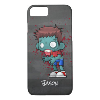 Cool Zombie Dude with Blood / Paint Splatter iPhone 7 Case