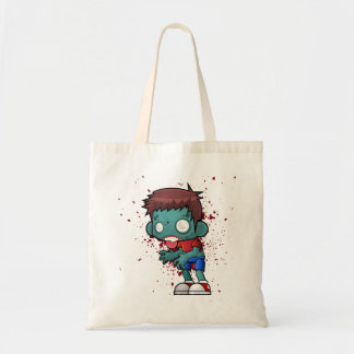 Cool Zombie Guy with Blood Splatter Tote Bag
