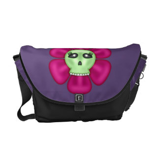 Cool Zombie Skull Flower Commuter Bags