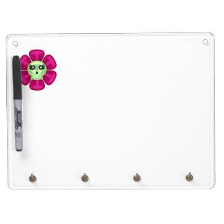 Cool Zombie Skull Flower Dry-Erase Whiteboard