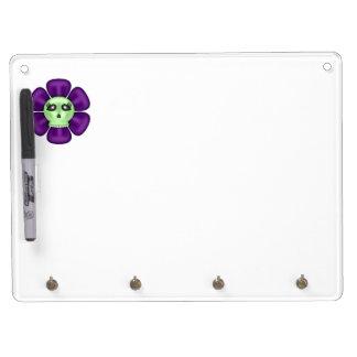 Cool Zombie Skull Flower Dry-Erase Whiteboards