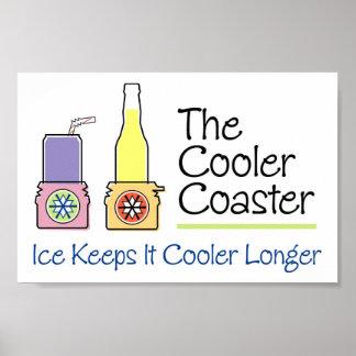 Cooler Coaster Poster