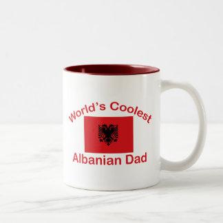 Coolest Albanian Dad Two-Tone Coffee Mug