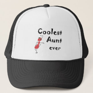 Coolest Aunt Ever Art Trucker Hat
