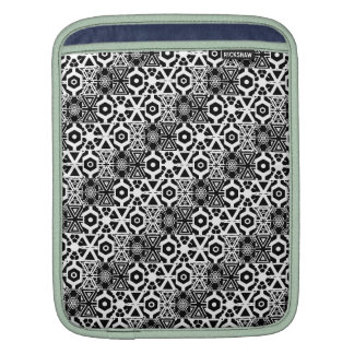 Coolest Black White Jeweled Pattern Sleeve For iPads