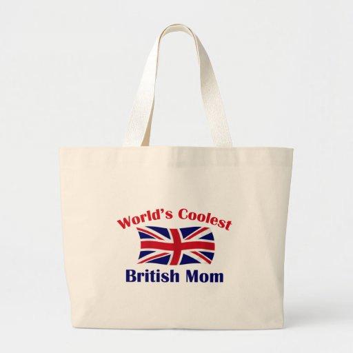 Coolest British Mom Canvas Bags