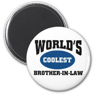 Coolest brother-in-law 6 cm round magnet