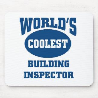 Coolest Building inspector Mouse Pads