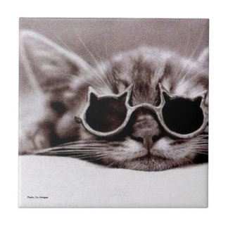 Coolest Cat alive - Ceramic Tile