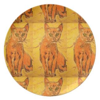 coolest cat design plate