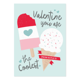 Coolest Classroom Valentine Pack Of Chubby Business Cards