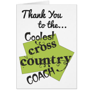 Coolest Cross Country Coach Thank You Card