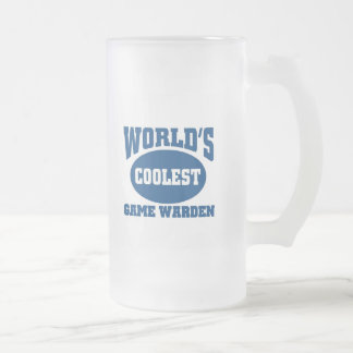 Coolest Game warden Frosted Glass Beer Mug