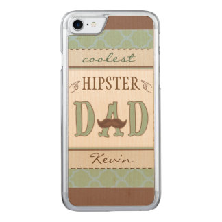 Coolest Hipster Dad Father iPhone Carved iPhone 8/7 Case