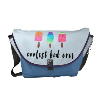 Coolest Kid Ever Popsicles Blue Baby Boy Diaper Commuter Bags