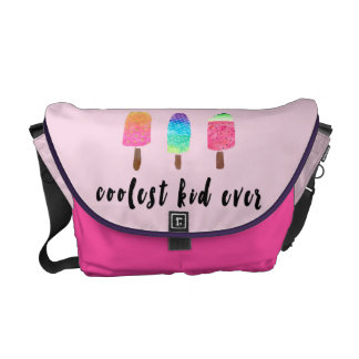 Coolest Kid Ever Popsicles Pink Baby Girl Diaper Messenger Bag