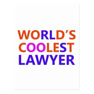 coolest lawyer postcard