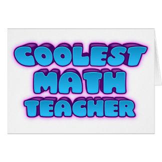 coolest math teacher card