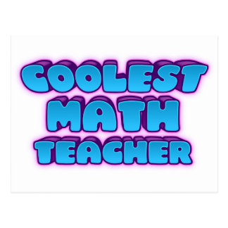 coolest math teacher postcard