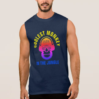 COOLEST MONKEY IN THE JUNGLE SLEEVELESS SHIRT