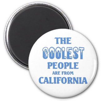 Coolest people are from California 6 Cm Round Magnet