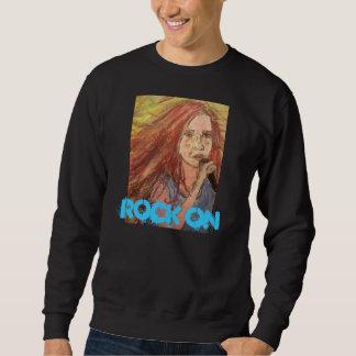 Coolest Rock Girl Rock On Pull Over Sweatshirts