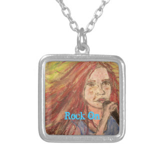 Coolest Rocker Girl Rock On Custom Necklace