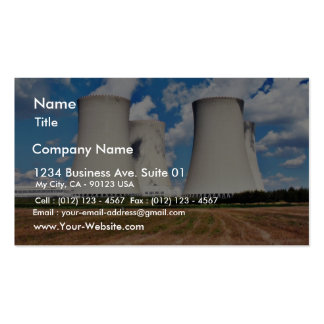 Cooling Towers Of A Nuclear Power Station Pack Of Standard Business Cards