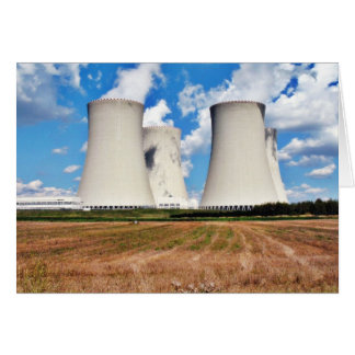 Cooling Towers Of A Nuclear Power Station Card