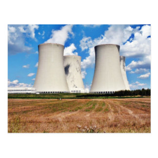 Cooling Towers Of A Nuclear Power Station Post Card