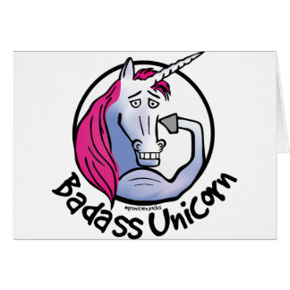 Coolly Unicorn bang-hard unicorn Card