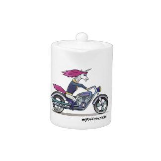 Coolly unicorn on motorcycle - bang-hard unicorn