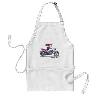 Coolly unicorn on motorcycle - bang-hard unicorn standard apron