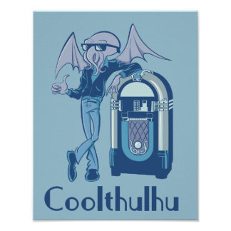 Coolthulhu (cool Cthulhu) Poster