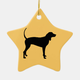 Coonhound Dog (black) Ceramic Ornament